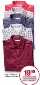 Van Heusen & Geoffrey Beene Dress Shirts