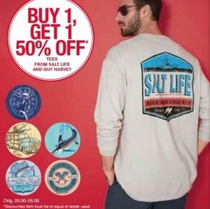 Tees from Salt Life and Guy Harvey