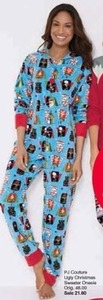 PJ Couture Ugly Christmas Sweater Onesie