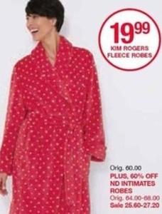 Kim Rogers Fleece Robes