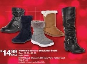 Women's Booties & Puffer Boots