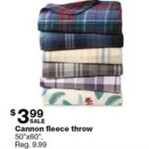 Cannon Fleece Throw