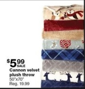 Canon Velvet Plush Throw