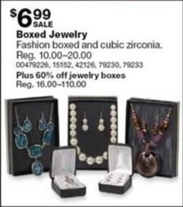 Fashion Boxed and Cubic Zirconia Jewelry