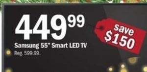 "Samsung 55"" Smart LED TV"
