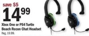 Xbox One Or Ps4 Turtle Beach Recon Chat Headset
