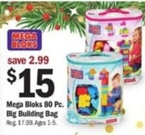 Mega Bloks 80-PC Big Building Bag