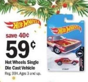 Hot Wheels Single Die Cast Vehicle
