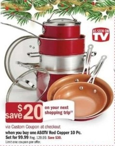 ASOTV Red Copper 10-Pc. Set