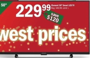 "Element 50"" Smart LED TV"