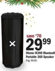 iHome IX360 Bluetooth Portable 360 Speaker