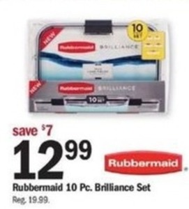 Rubbermaid 10pc. Brilliance Set
