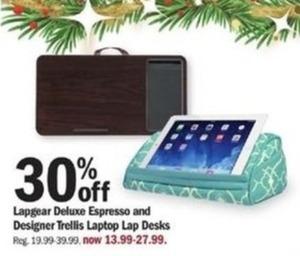 Lapgear Deluxe Espresso & Designer Trellis Laptop Lap Desks