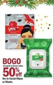 Yes To Facial Wipes Or Masks