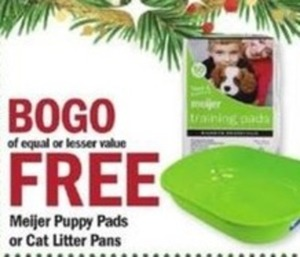 Meijer Puppy Pads or Cat Litter Pans
