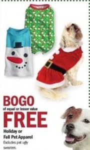 Holiday or Fall Pet Apparel