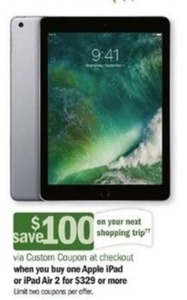 Apple iPad or iPad Air 2 + $100 Custom Coupon