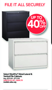 WorkPro Metal Lateral & Vertical File Cabinets