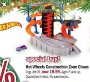 Hot Wheels Construction Zone Chaos