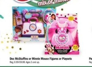 Doc McStuffins Or Minnie Mouse Figures Or Playsets