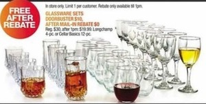 Glassware Sets After Rebate
