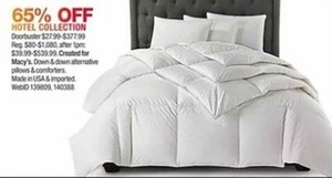 Hotel Down Comforters & Pillow Collection