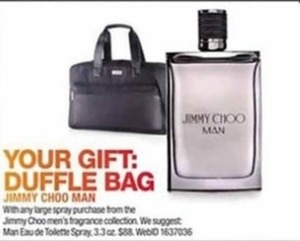 Duffle Bag w/ Jimmy Choo Fragrance Collection Order