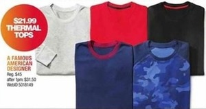 A Famous American Designer Thermal Tops