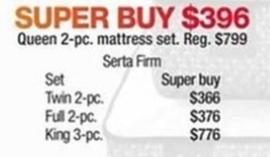 Queen 2-Pc. Mattress Set