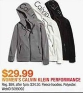 Women's Calvin Klein Performance Fleece Hoodies