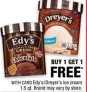 Edy's 1.5qt Ice Cream w/ Card