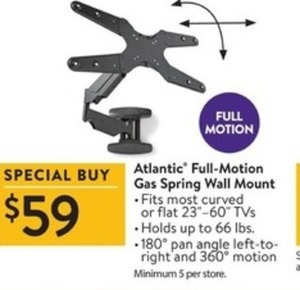 Atlantic Full Motion 59 Gas Spring Wall Mount