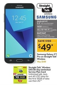 Samsung Galaxy J7 S Pro on StraightTalk Wireless