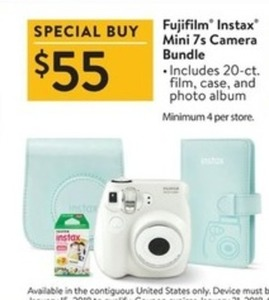 Fujifilm Instax Mini 7s Camera Bundle