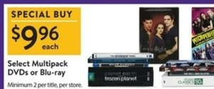 Select Multipack DVDs or Blu-ray