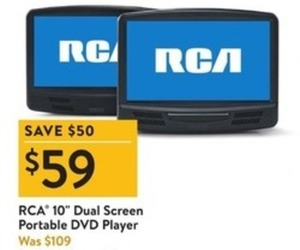 "RCA 10"" Dual-Screen Portable DVD Player"