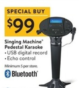 Singing Machine Pedestal Karaoke