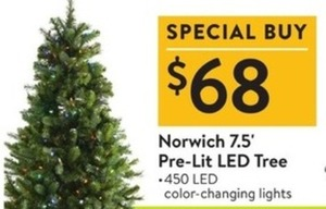 Norwich 7.5' Pre-Lit LED Tree