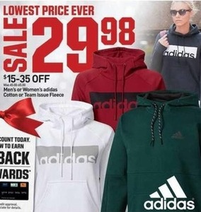 Men's or Women's Adidas Cotton or Team Issue Fleece