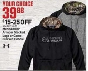Men's Under Armour Stacked Logo or Camo Blocked Hoodie