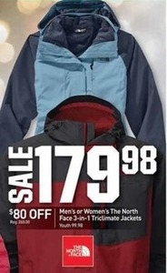 Men's or Women's The North Face 3-in-1 Triclimate Jackets