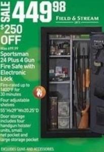 Sportsman 24 Plus 4 Gun Fire Safe w/ Electronic Lock