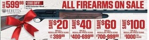 All Firearms on Sale, Up to $100 Off