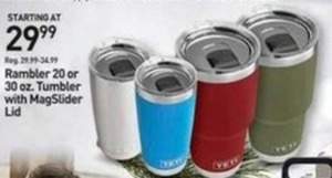 Yeti Rambler 20 oz. or 30 oz. Tumbler with MagSlider Lid