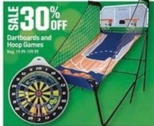 Dartboards and Hoop Games