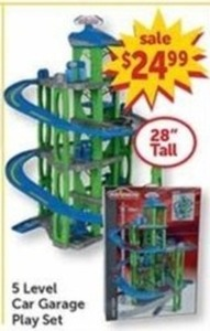 5 Level Car Garage Play Set