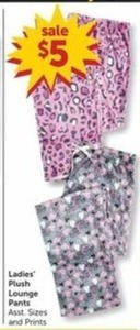 Ladies' Plush Lounge Pants