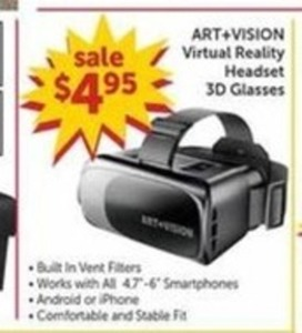 Art+Vision Virtual Reality Headset 3D Glasses