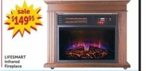 Lifesmart Infrared Fireplace