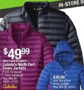 Youth North Port Down Jackets